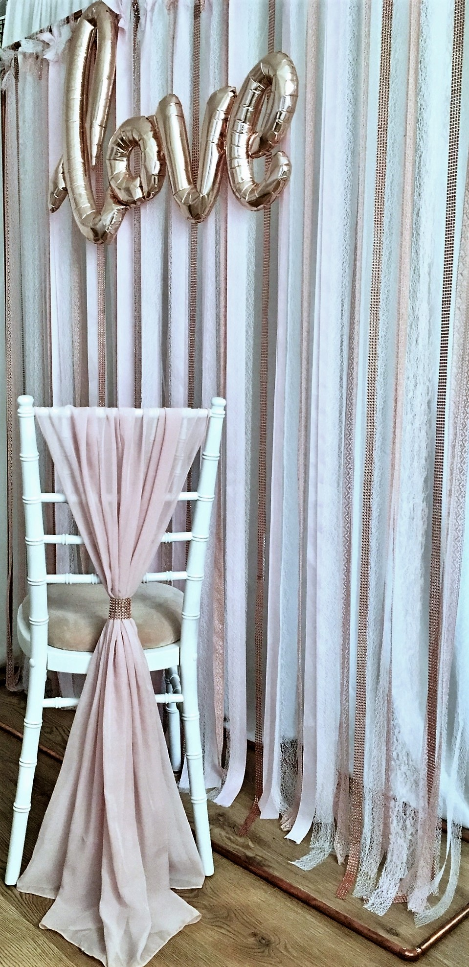 Chiffon chair drapes