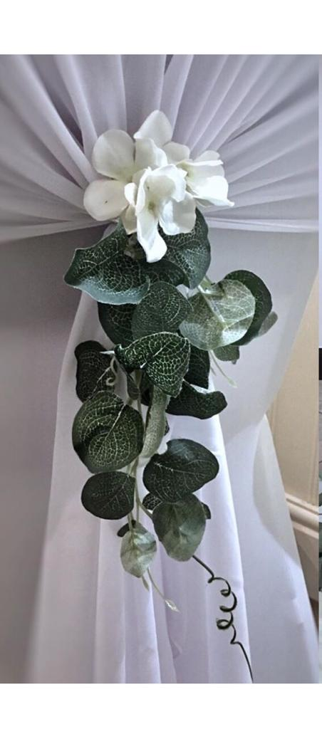 Wedding chair foliage