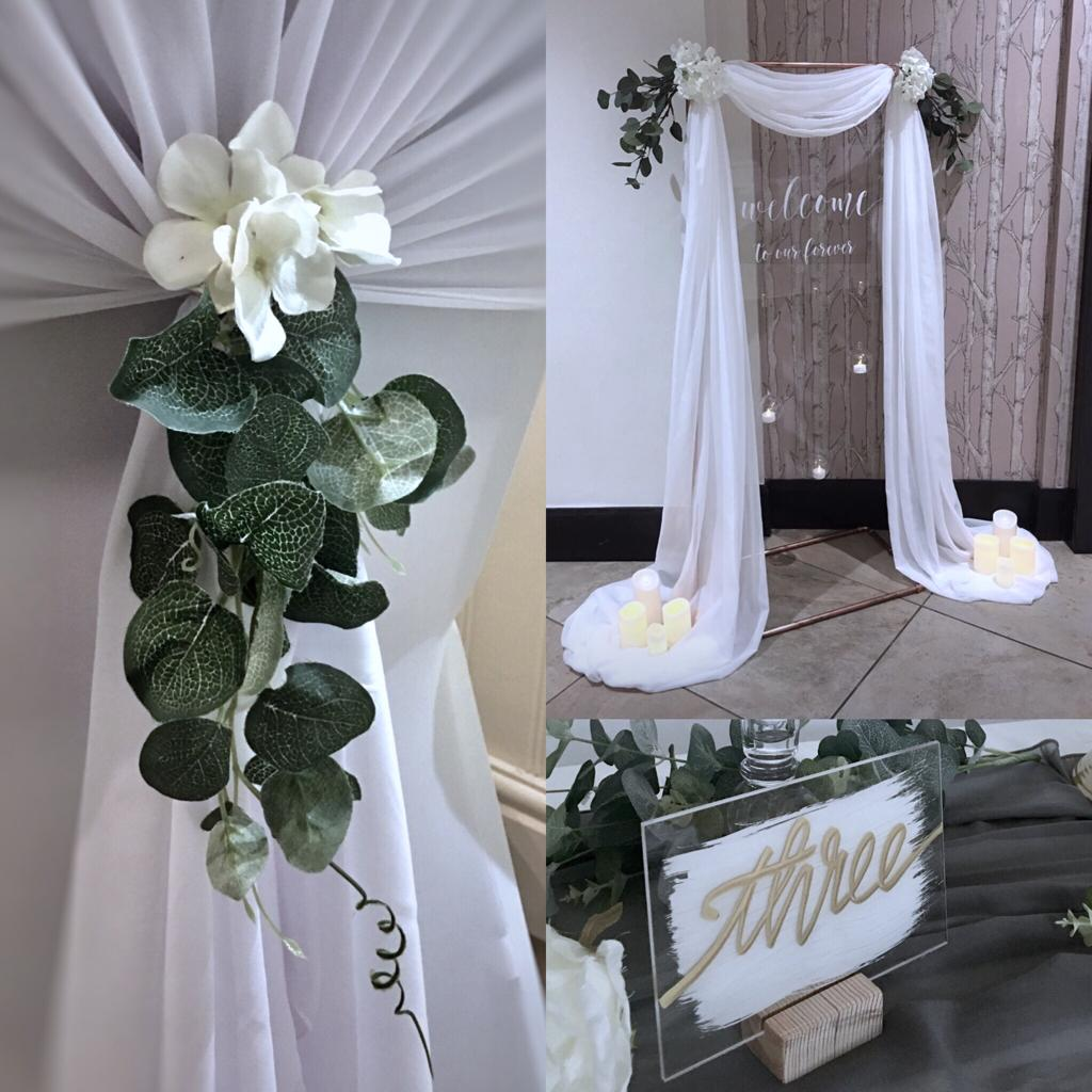Wedding chair with foliage