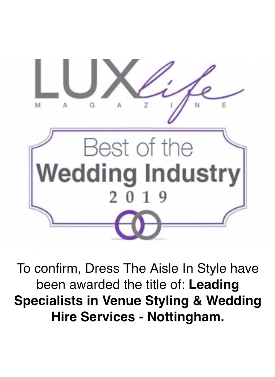 Specialists in venue styling & wedding hire services-Nottingham