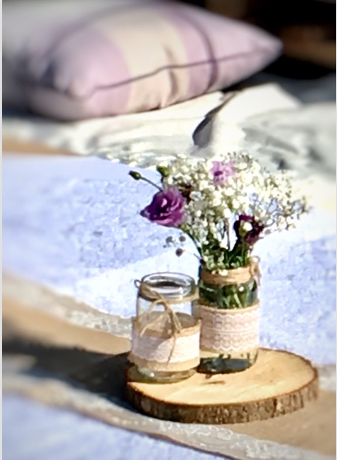 Rustic venue styling