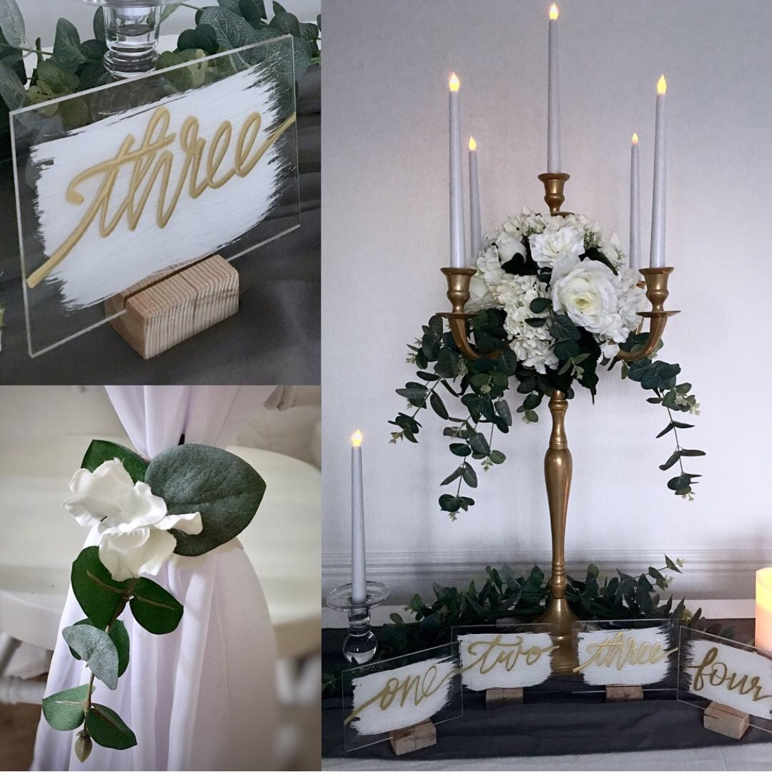 Gold and green theme wedding