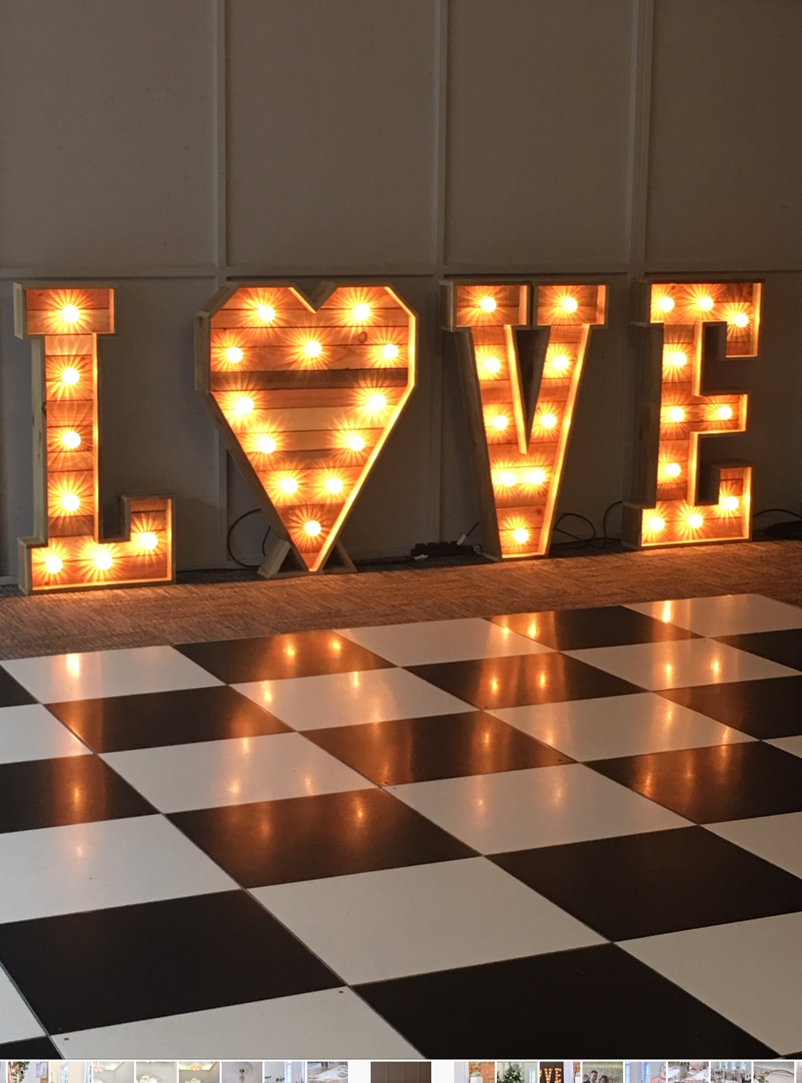 Large rustic love lights