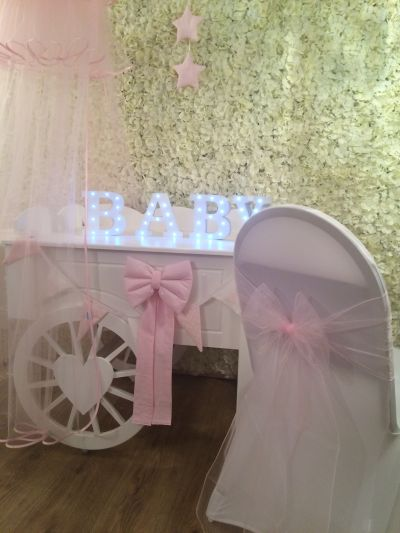 Organza chair sash.