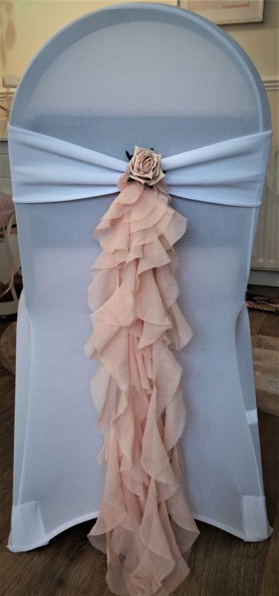 Wedding chair ruffles