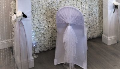 White lace chair hoods