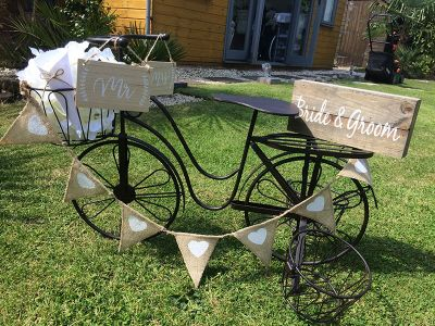 Wedding vintage bike