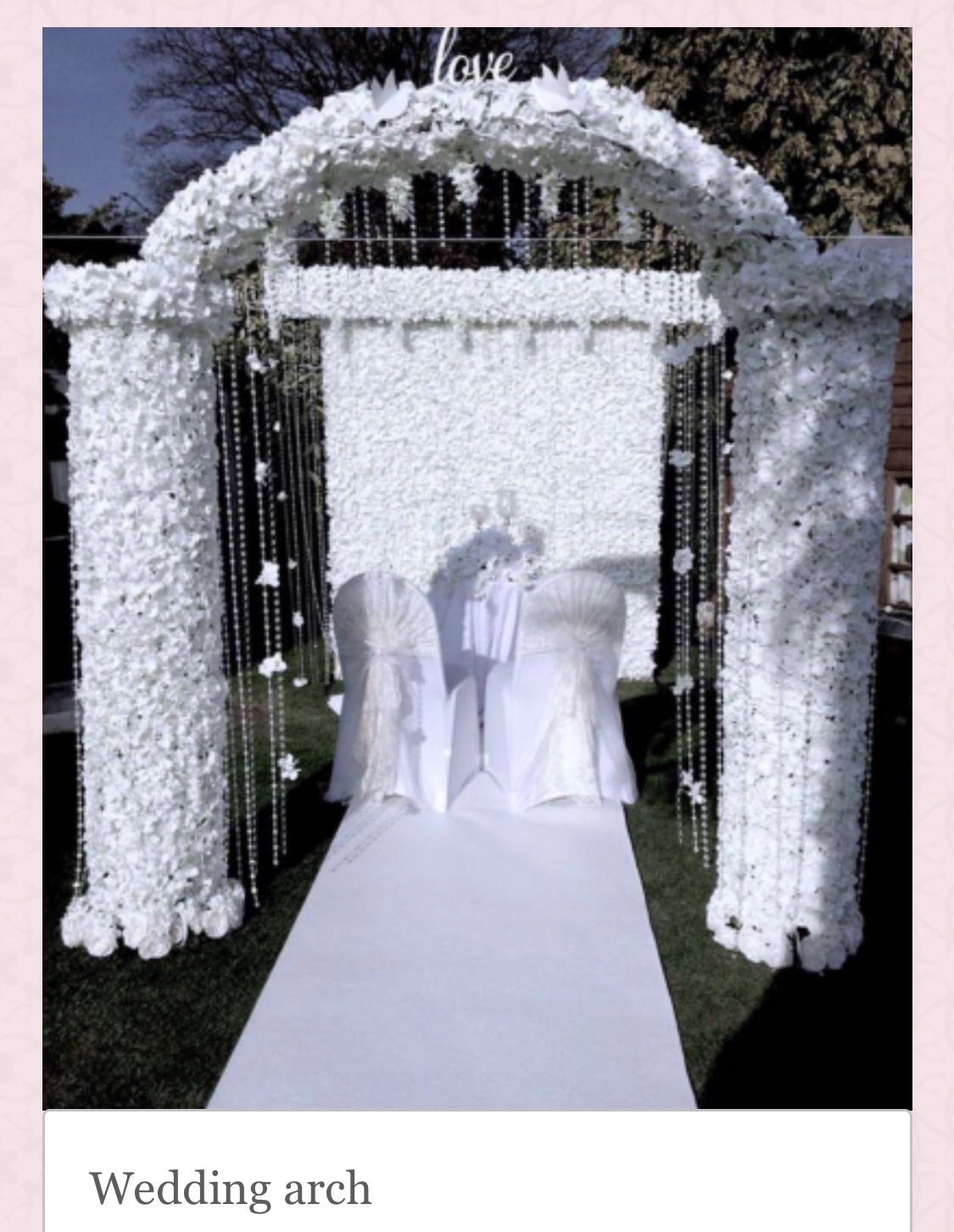 Wedding Arches & Backdrops